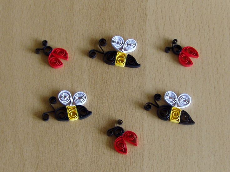 quilled Bees and LadyBugs - bjl