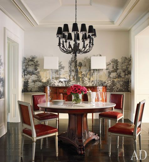 Brooke Shields dining room in New York