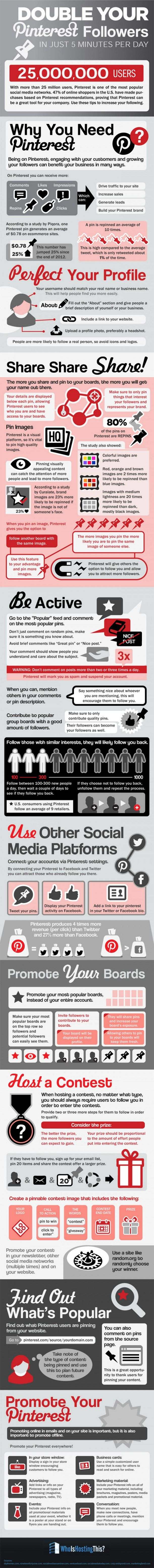 Find out How You Can Get More Pinterest Followers in this #socialmefia #Infographic