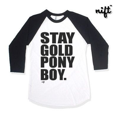 Hey, I found this really awesome Etsy listing at https://www.etsy.com/listing/223082194/stay-gold-ponyboy-unisex-baseball-34