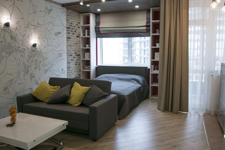 Небольшая квартира-студия в стиле лофт. Abitant Москва