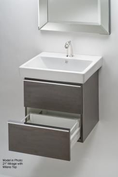 Photography Gallery Sites Empire WMM Mirage Wall Hung Vanity for Milano Top