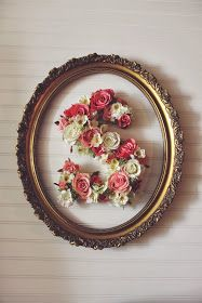 diy floral letter - this could be cool with the right decor