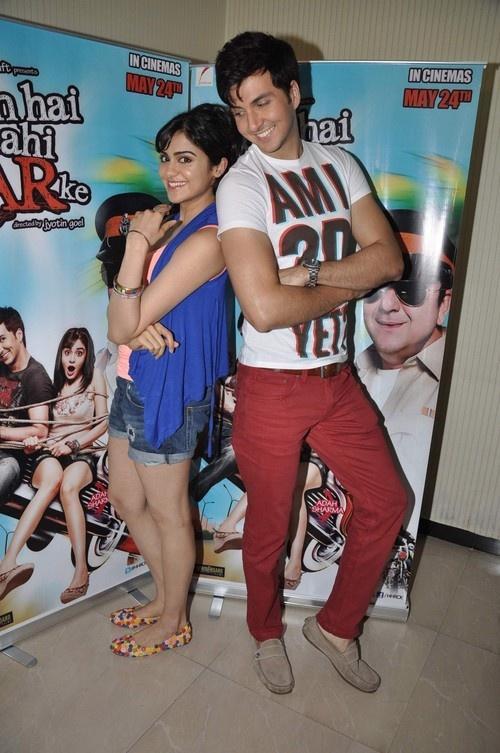 Dev Goel and Adah Sharma promoting their upcoming movie 'Hum Hai Raahi Car Ke' in Mumbai