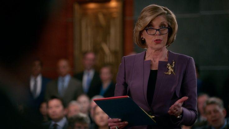 Zeiss Eyewear Butterfly Eyeglasses inspired by Diane Lockhart in The Good Wife Season 7 Episode 21 | TheTake