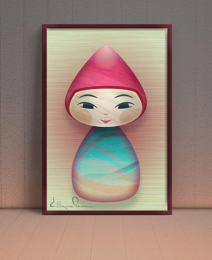 Muñeco de madera. Autor: Enrique Parra