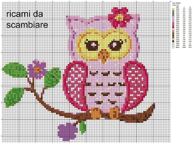 Assez 236 best Hiboux au point de croix images on Pinterest | Punto  LD07