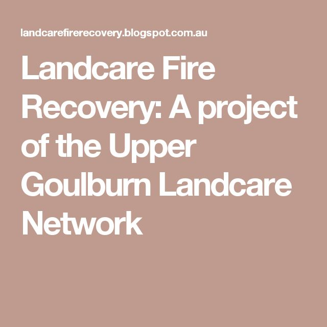 Landcare Fire Recovery: A project of the Upper Goulburn Landcare Network - Victoria, Australia - Since the devastating Black Saturday bushfires of Feb 2009, the Upper Goulburn Landcare Network has been working with landholders and local communities in the Murrindindi and Mitchell Shires to rebuild and rehabilitate the local environment on private property.