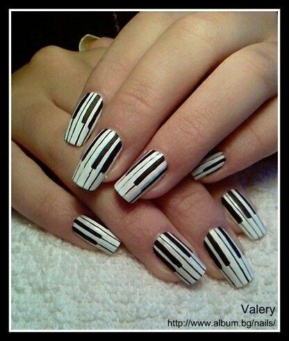 Piano keyboard nail design nail art gallery pinterest