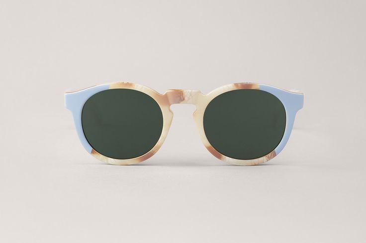 MR.BOHO Unisex Marble Hackney with Classical Lenses Sunglasses, Beige, One Size MR BOHO
