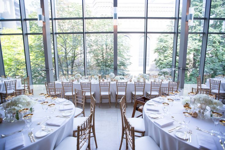 Royal Conservatory of Music white with gold accents wedding decor