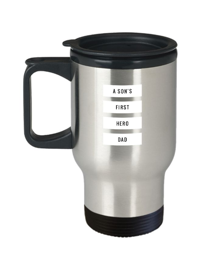 A Son's First Hero Dad Father's Day Gift Travel Mug