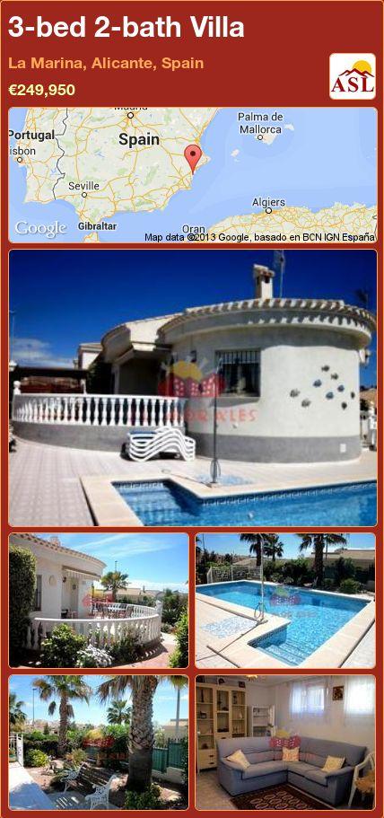 3-bed 2-bath Villa in La Marina, Alicante, Spain ►€249,950 #PropertyForSaleInSpain