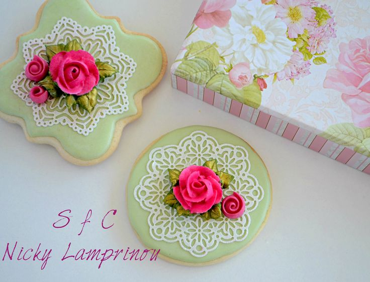 Vintage Royal icing cookies