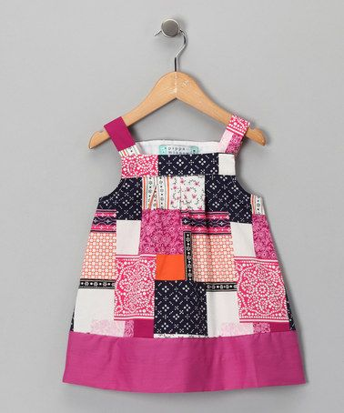Take a look at this Pink Patchwork Dress - Toddler & Girls by Katie & Co. on #zulily today!