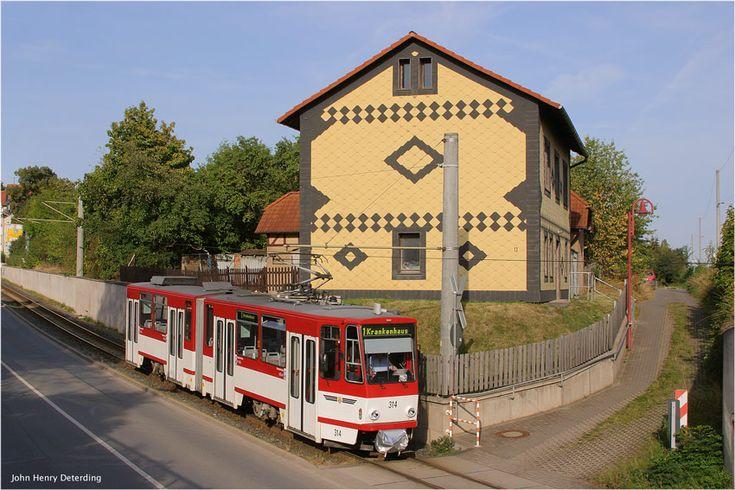 Straßenbahn Gotha [62] - Tw 314 in Sundhausen