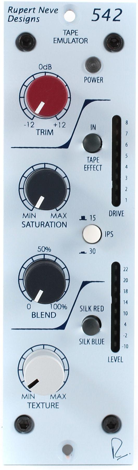 Rupert Neve Designs 542 Tape Emulator - Neve saturation tape emulator. Neve has always been a pioneer in recording technology