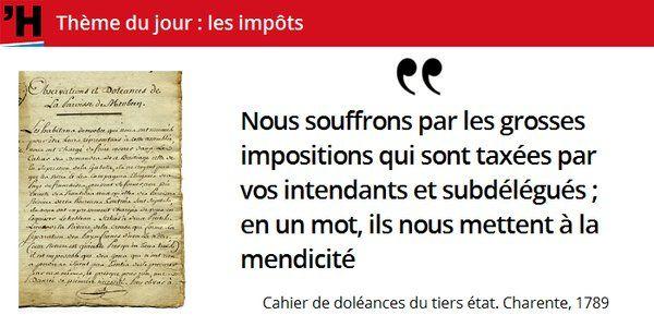 Que veut le Tiers état ? D'abord l'égalité devant l'#impôt #histoire de #France en #citations