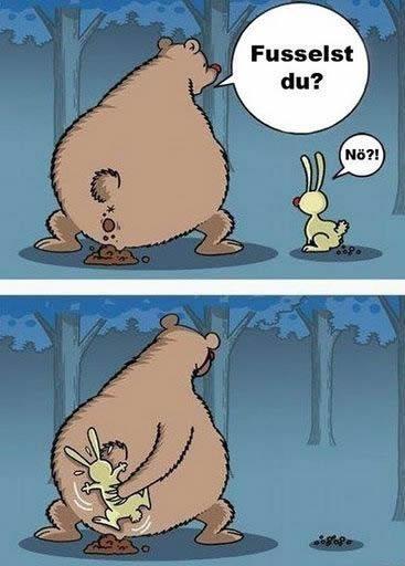 Tja, mal bist du der Bär, mal der Hase........