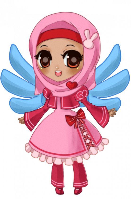 Girl in Hijab (Manga Drawing)