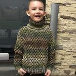 "Свитер ""Ананасик"" для мальчика 4-5 лет"