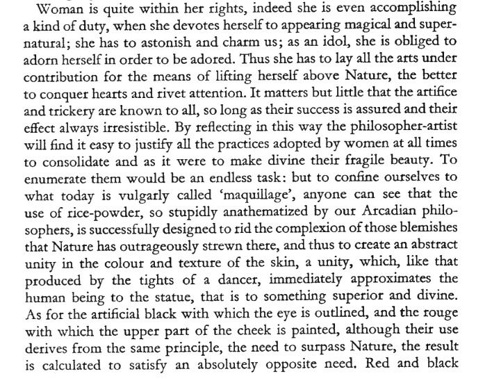 Charles Baudelaire In Praise Of Makeup From The Painter Of