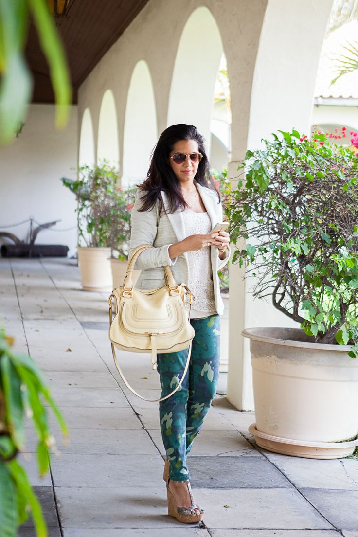#Cabi - Give you casual Friday look a twist with our Clover Camo Jeggins. Pair them with your favorite CAbi spring jacket and rock one of the boldest trends of the season. #springoutfit #fashion