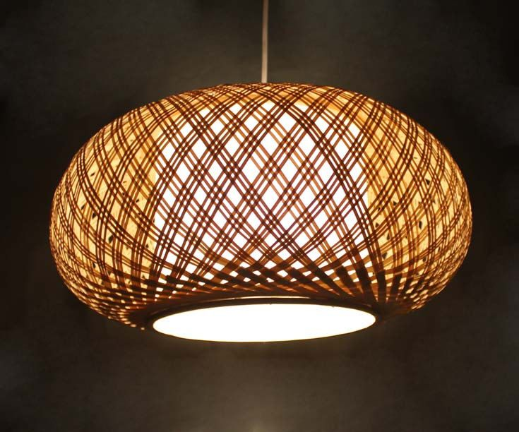Bamboo Ceiling Light Homebase : Diameter inches hand woven from natural bamboo and