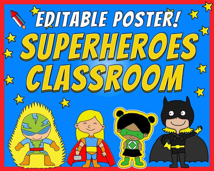 Primary Classroom Design Ideas ~ Editable poster this is the superheroes classroom