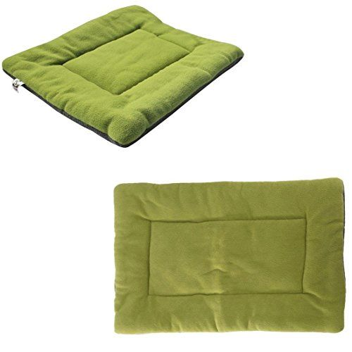 1Pcs Monumental Modern Pet Bed Sleep Mat Size XL Warm Fleece Cat Couch Cover Cushion Color Green * You can find out more details at the link of the image.