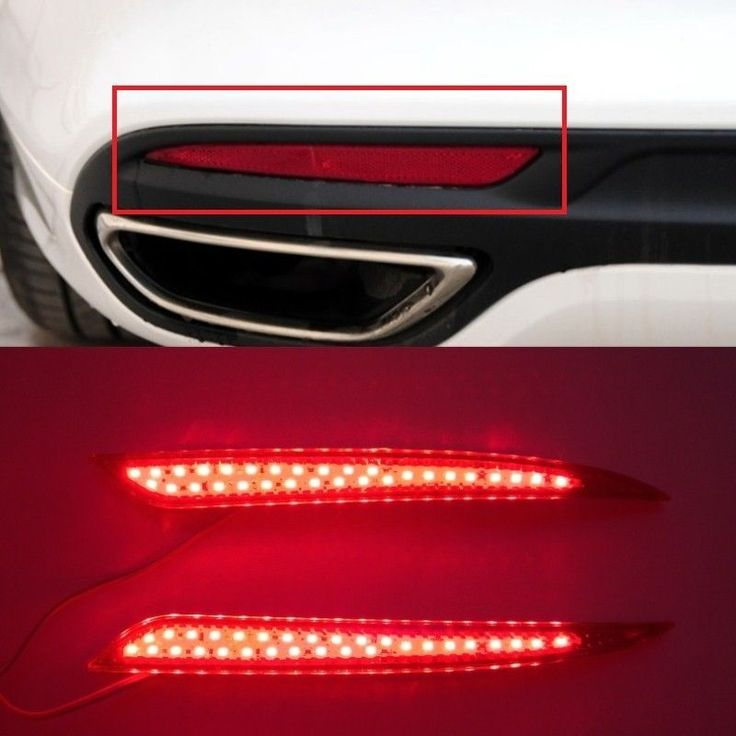 Ford Fusion 2013 - 2015 Red lens LED Rear Bumper Reflector Light Lamp