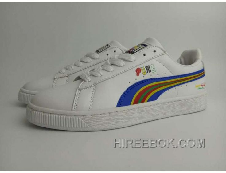 6318b7b08144 Puma Basket X Dee Ricky BW 360211 Rainbow Limited Men Women White Super  Deals. Kd ShoesPumas ...