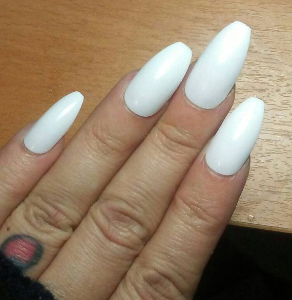 White Wedding Coffin Nails Matte Or Glossy Long Or Short Press On Glue On Acrylic Nails False Fake Stiletto Square Oval Custom Light Pink Acrylic Nails Blue Coffin Nails Glue On