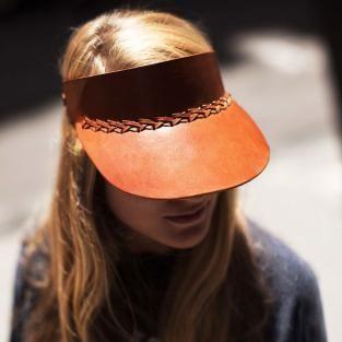 S/S 16 accessories: materialsÜ, Leather visor