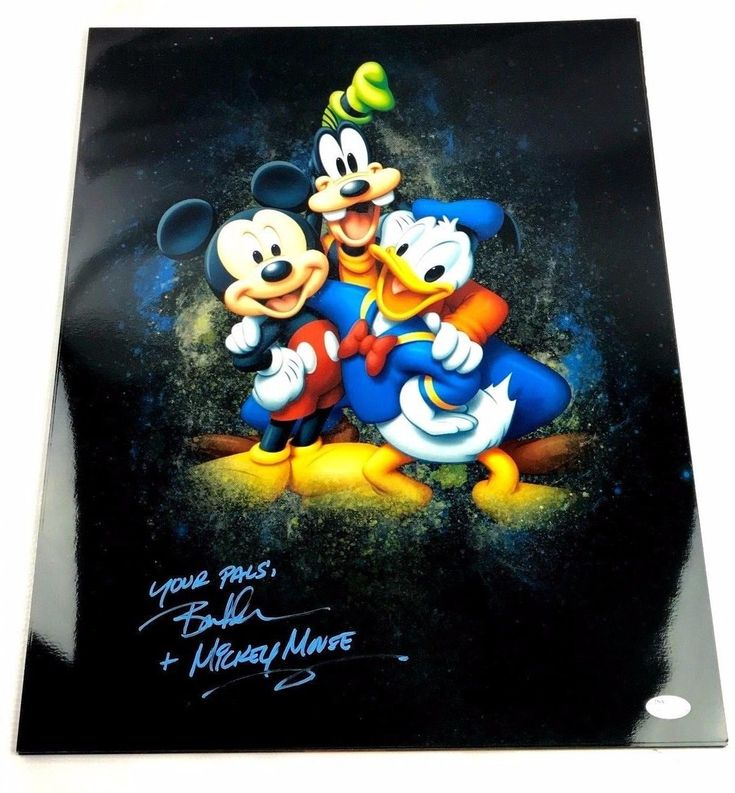 Bret Iwan Autograph 16x20 Photo Mickey Mouse Picture Signed JSA Disney Z1