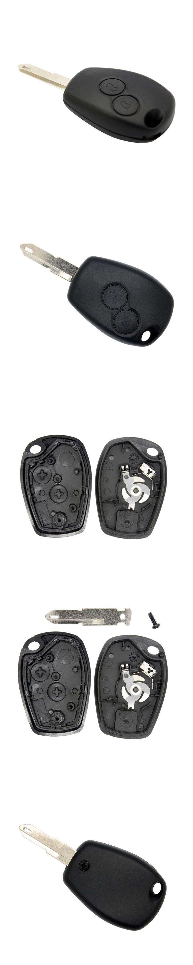 2 Button Remote Key Fob Shell Case Blank For Renault Duster Logan Fluence Clio Vivaro Movano Traffic Kangoo
