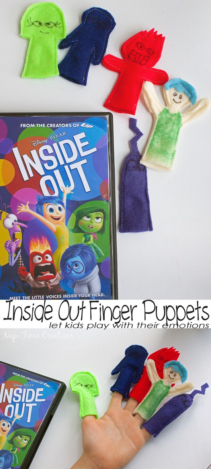 Inside Out Finger Puppets and DVD release #InsideOutEmotions From Nap-Time Creations #ad