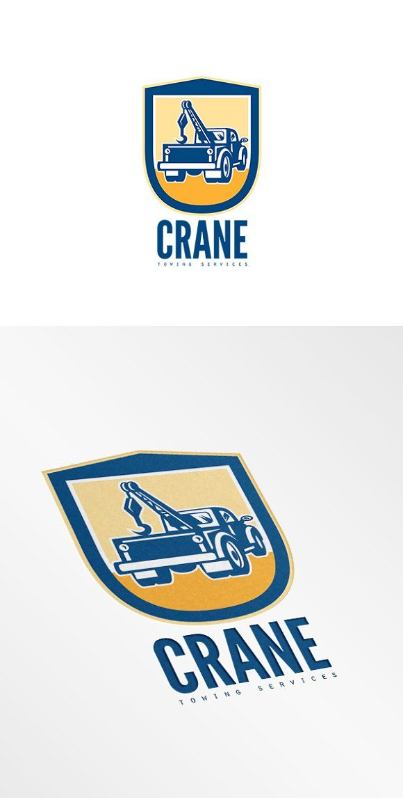Crane Towing Services Logo by patrimonio on @creativemarket