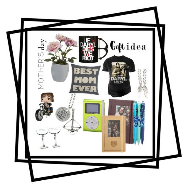 """my mom loves music, the walking dead, and her kids."" by nuzzlesandhappytears ❤ liked on Polyvore featuring Changes, Alexandra Ferguson, Cathy's Concepts, Vera Bradley, Pavilion Broadway, MothersDay, thewalkingdead and mothersdaygiftguide"