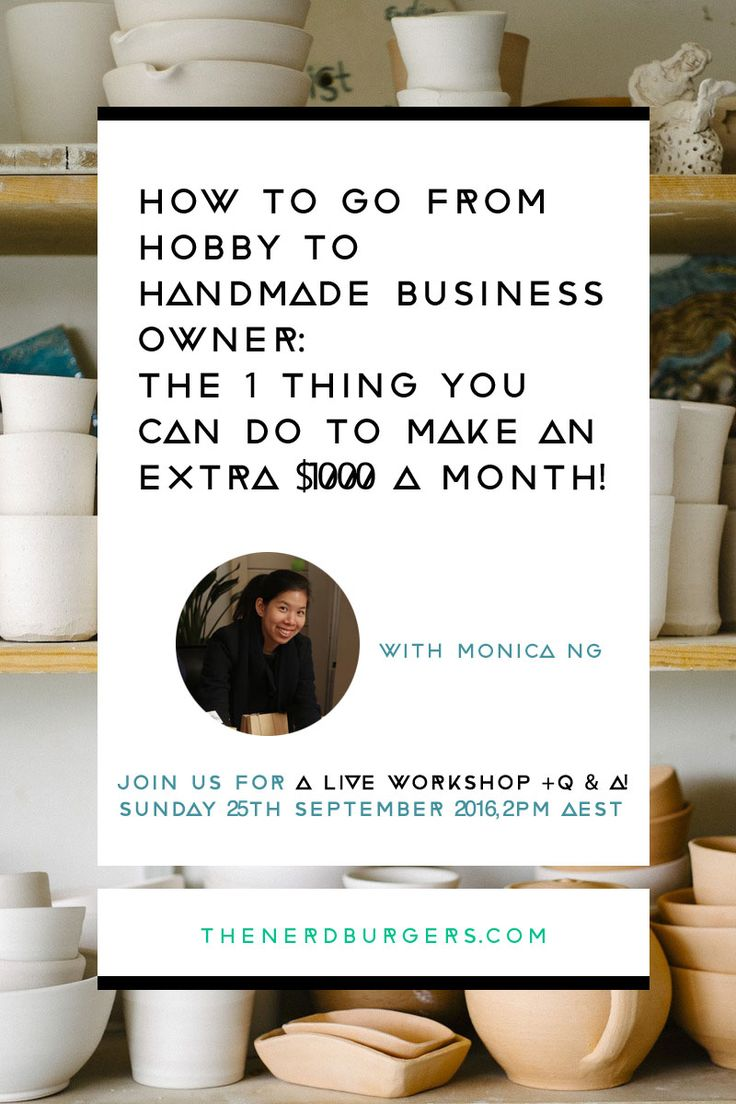 What you'll learn on this FREE live workshop: 1) The 5 benefits of selling at Craft Fairs and Design Markets and why you're losing out on money if you don't, 2) The 1 simple strategy to find the best Craft Fairs and Design Markets for your handmade business 3) The 5 common mistakes to avoid on your Craft Fair and Design Market Application 4) The quickest strategy to build an engaged social media following and email list 5) PLUS a LIVE Q&A session so you can get all your questions answered.