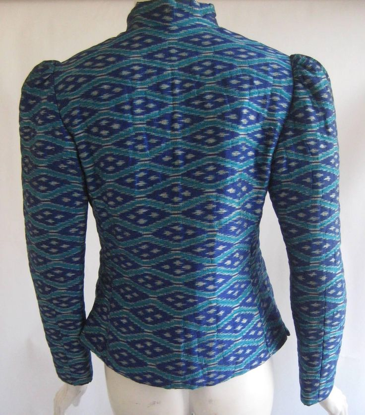 1960s Pierre Balmain Boutique Thai Silk Ikat Print Jacket   From a collection of rare vintage jackets at https://www.1stdibs.com/fashion/clothing/jackets/