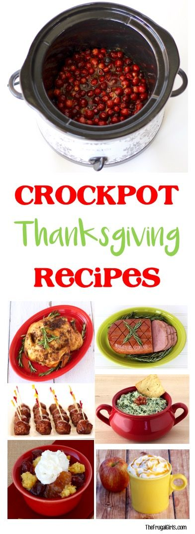 45 Easy Crock Pot Thanksgiving Recipes! Let the Slow Cooker do the work for you so you can enjoy the holidays!   TheFrugalGirls.com