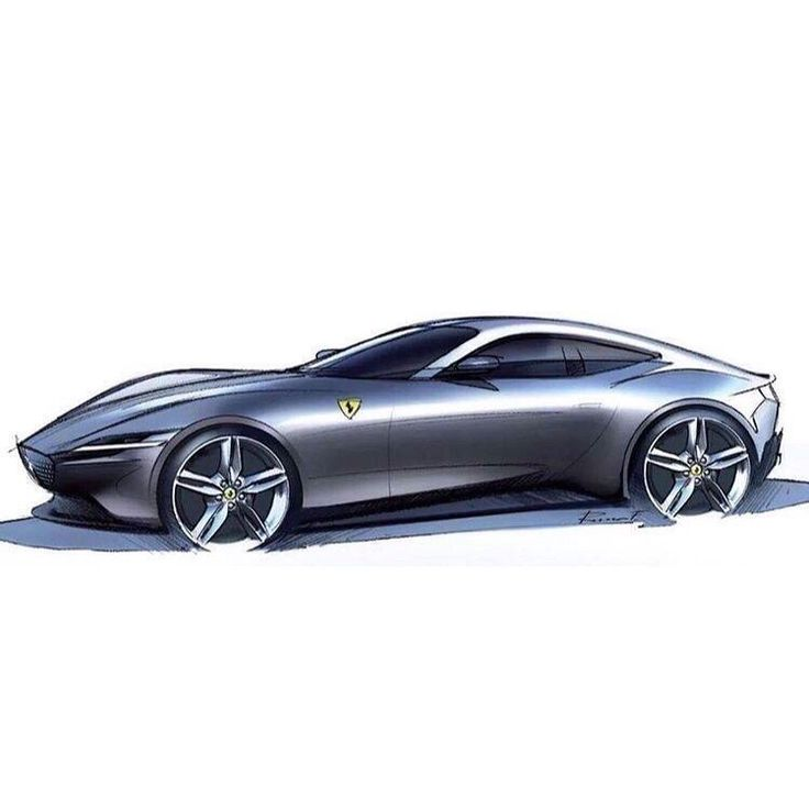 "Ferrari Designer: Car And Sketch On Instagram: ""Ferrari Roma Sketch By"