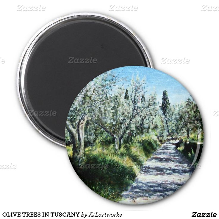 OLIVE TREES IN TUSCANY 2 INCH ROUND MAGNET