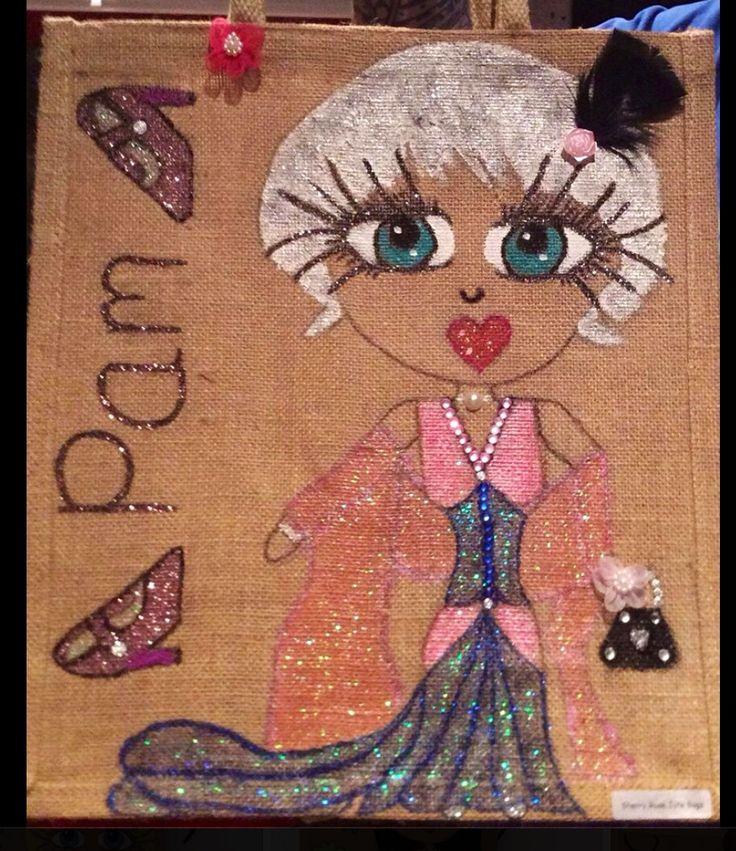 Personalise deco art large jute bag