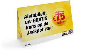 Ontvang een #gratis #lot bij de #Lotto  #korting #aanbieding #actiecode #voordeel #loten #winnen #prijsvragen