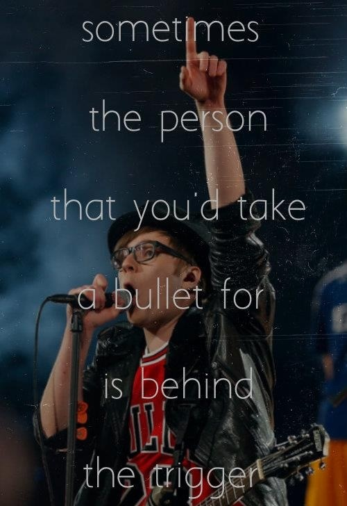 Fall Out Boy. One of the best lyrics off of Save Rock and Roll.