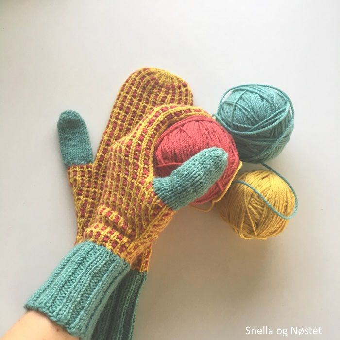 Kaisa mittens in Chickadee from Quince&co