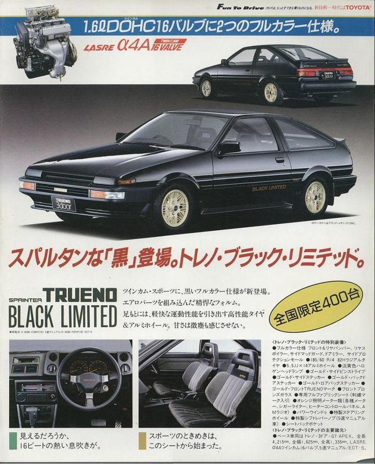 https://plus.google.com/+JohnPruittMotorCompanyMurrayville/posts  Black Limited AE86 - Toyota Ad