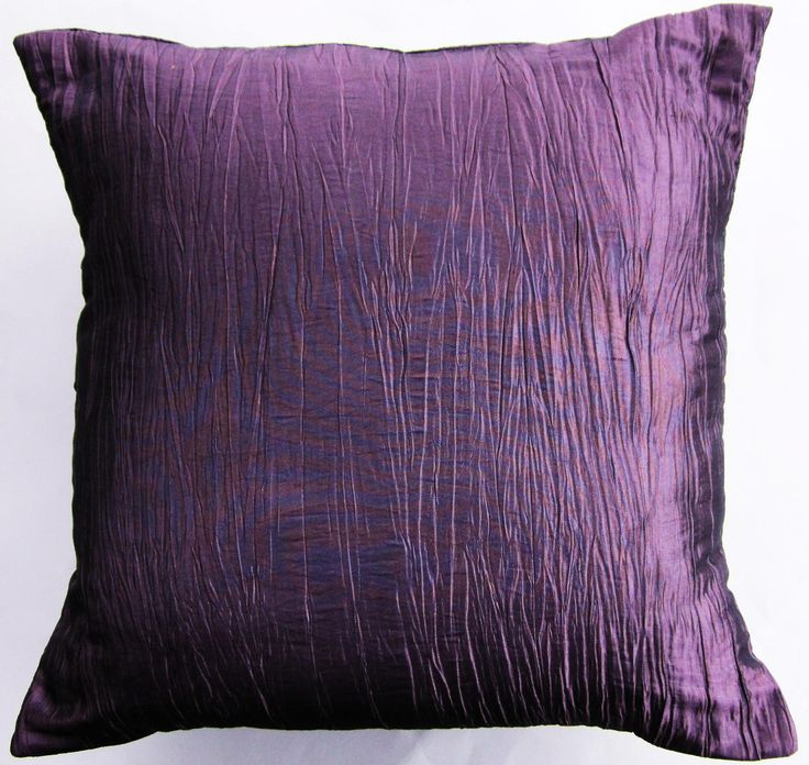 Purple Pillow Cover    Crinkled Mauve Light Purple Throw Pillow Cover    18  X 18